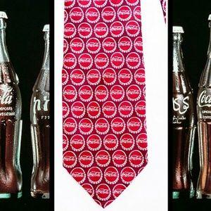 SALTIES Coca Cola Bottle Cap Novelty Tie